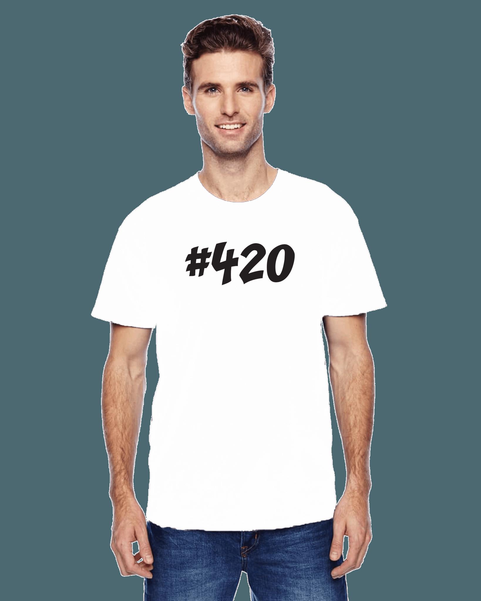 #420 420 tshirt white