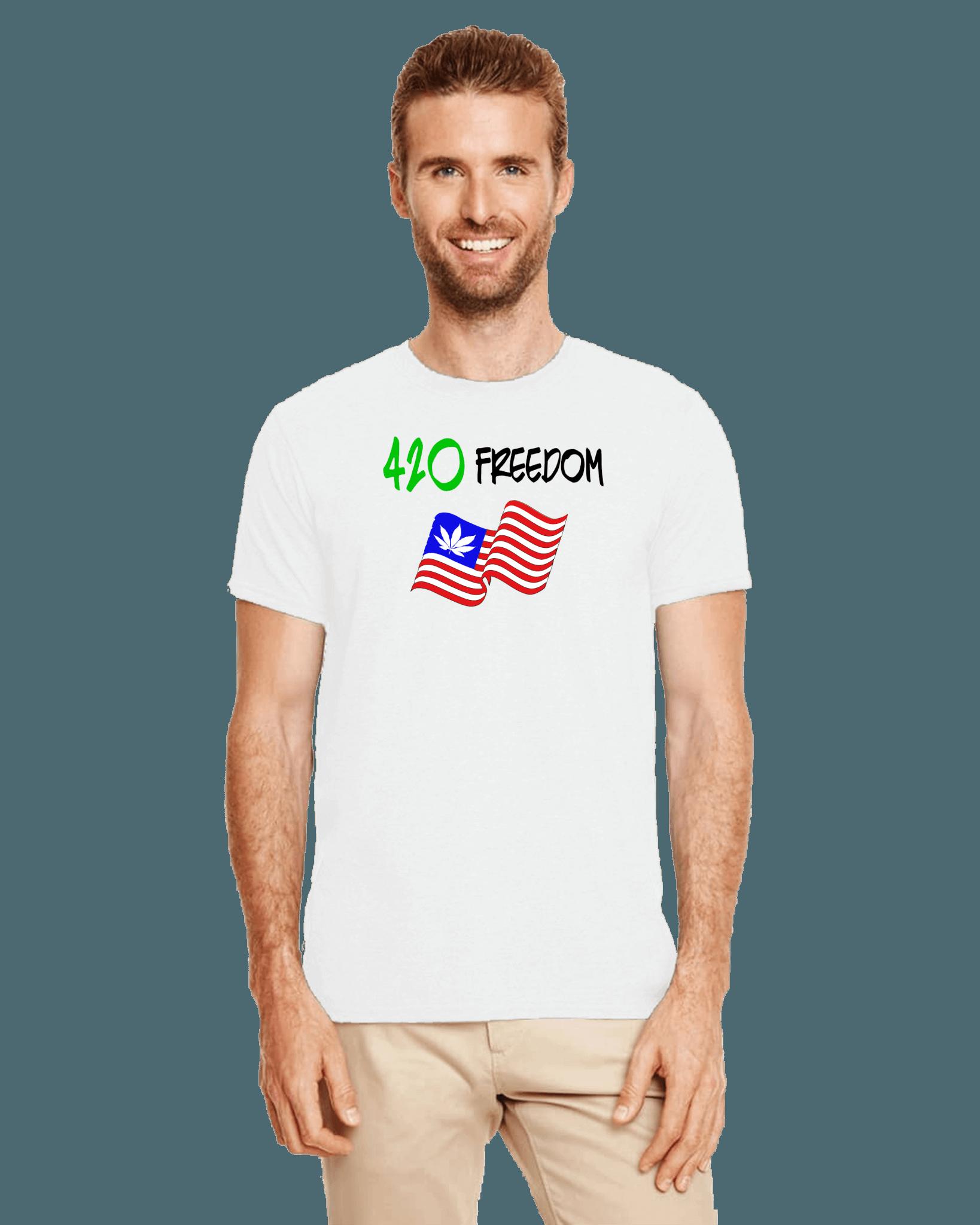 420 freedom 420 t-shirt white