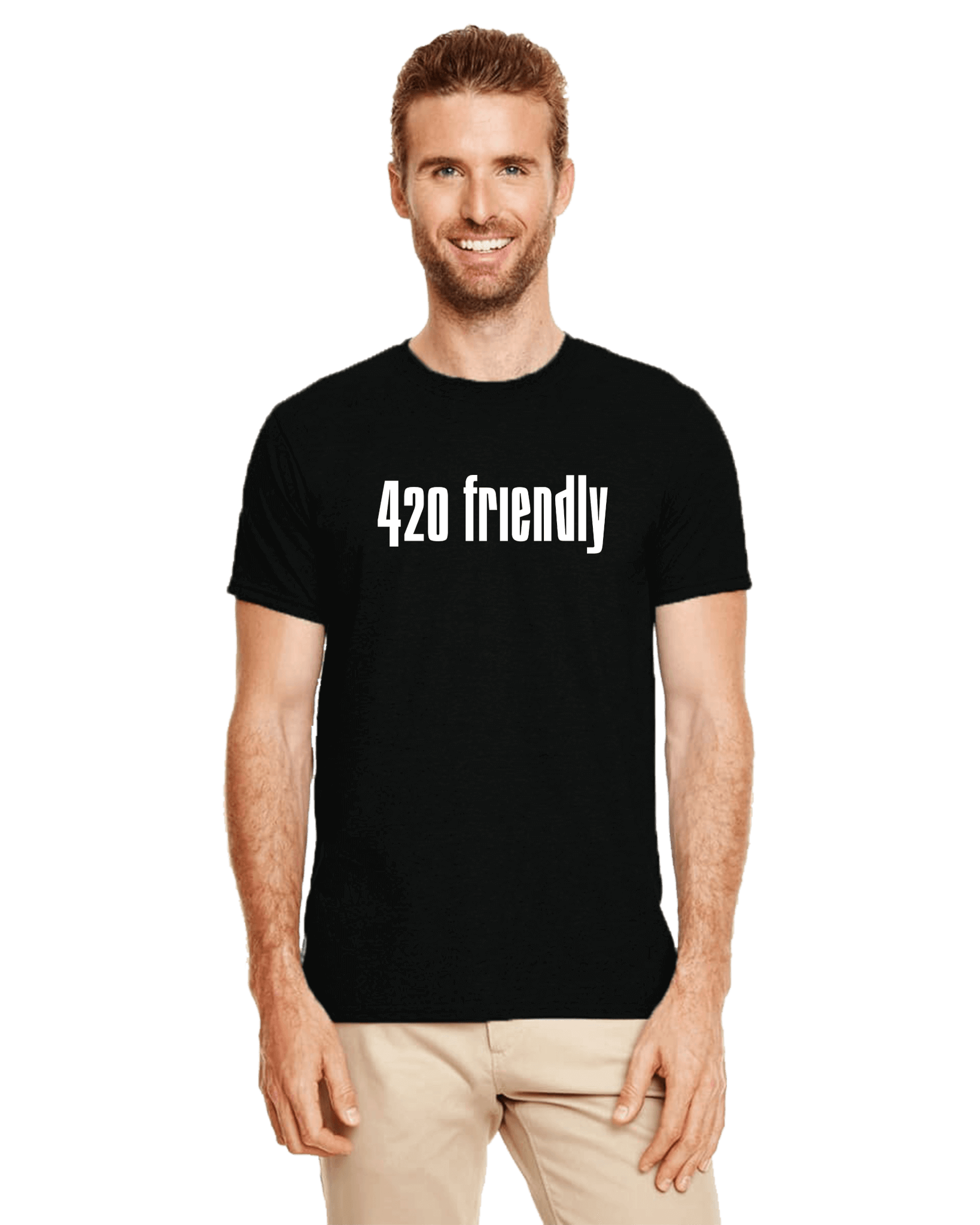 420 friendly 420 t-shirt black