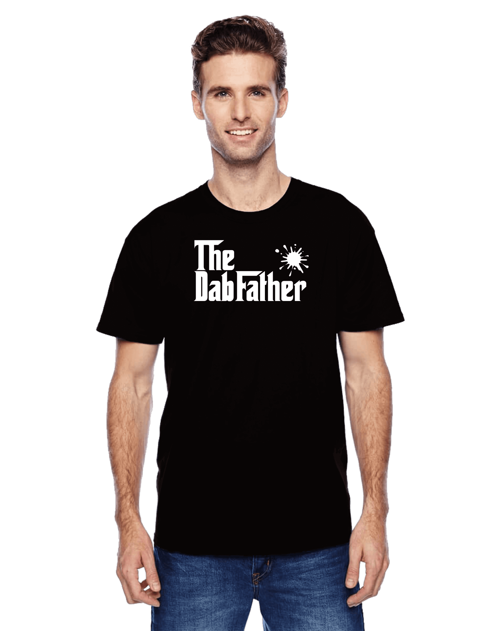 the dabfather 420 tshirt black